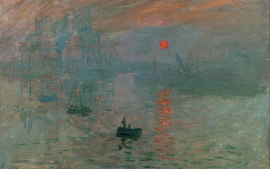 Impression, Soleil levant. Tableau peint à l'huile de Claude Monet