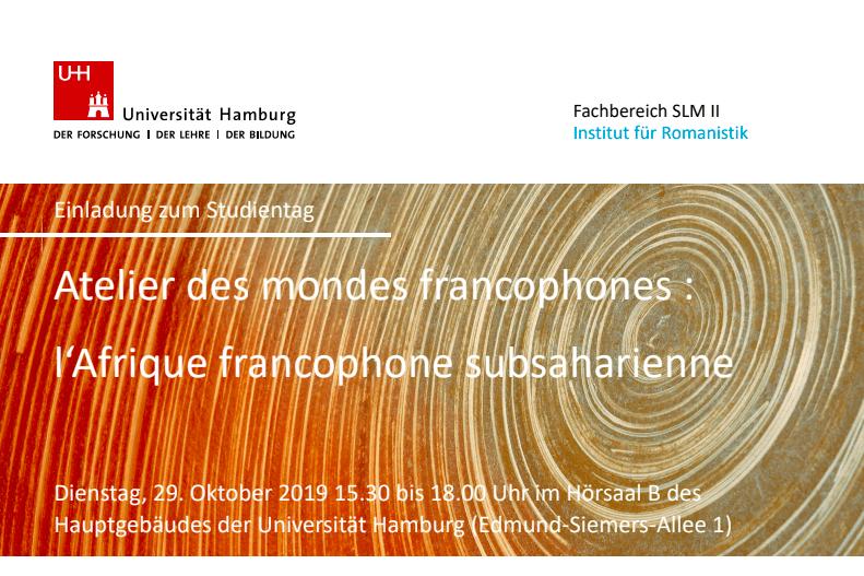 Journée d'étude Afrique francophone subsaharienne